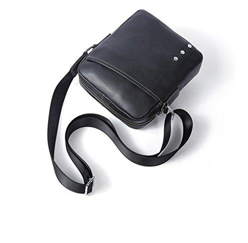 Bolsa Mochila Cuero Resistentes 1 de Sucastle Pequeña 5CM Bolso Hombro Pecho 18x5x22 Piel Bolsos de Autentico Bolsos Bandolera y Hombre xZagq1