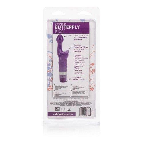 California Exotic Novelties Platinum Edition Bulk Butterfly Kiss Vibrator, Purple