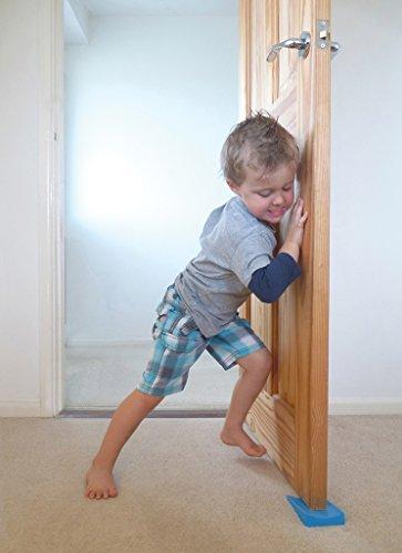Top Rated Jamm Door Stopper. Patented Door Stop Design Holds Doors in BOTH Directions. Outperforms other Door Stops and Decorative Door Wedges. Premium Non Rubber Hardware - Dark Grey 2-Pk (Size 1) by Jamm (Image #5)
