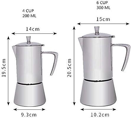 Filtro de café Moka Pot Mocha Coffee Pot Café de Acero Inoxidable ...