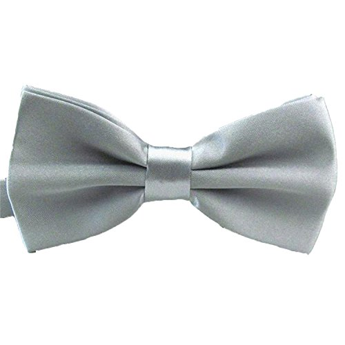 2016 Male Fashion Bow Tie For Wedding Party Mens Toddler Youth Boys Women Dog Silver, One Size