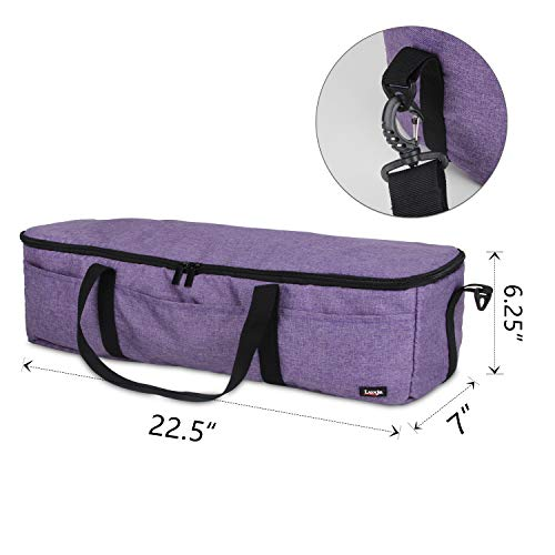 Luxja Foldable Bag Compatible with Cricut Explore Air and Maker, Carrying Bag Compatible with Cricut Explore Air and Supplies (Bag Only), Purple by LUXJA (Image #5)
