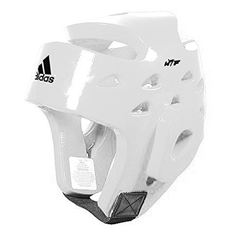 Adidas Kampfsport Taekwondo Schaumstoff Polster Kopfschutz - Weiß, L, Andere