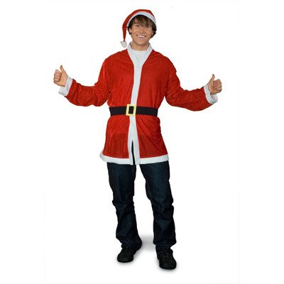 Costumes July Christmas In (Sunnywood Men's Party Santa Costume, Red/White, One)