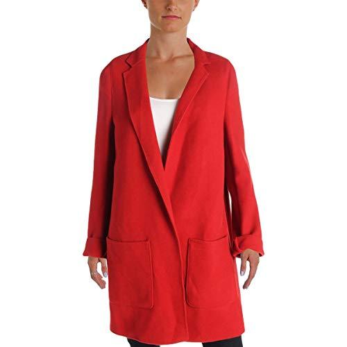 LAUREN RALPH LAUREN Womens Dalyssa Wool Open Front Jacket Red M