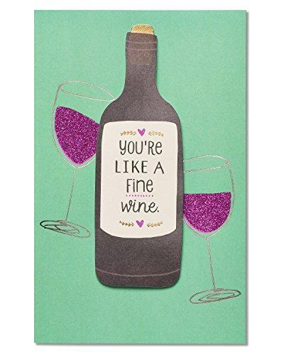 Fine Wine Birthday Card with Glitter