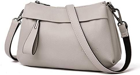 Shoulder Bags Borsa Litchi Texture Retro PU Multistrato Shoulder Bag Messenger Singolo Sacchetto della Borsa delle Signore (Nero) (Colore : Bianca) Bianca