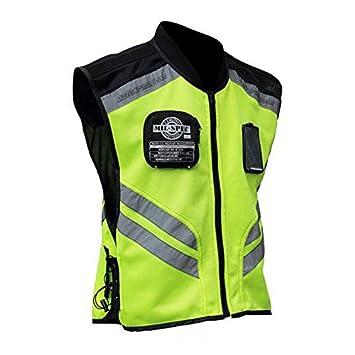Chaqueta de Seguridad Fluorescente L Uniforme de Seguridad Vial Ocamo Chaquetas y Chalecos de Alta Visibilidad Reflectante para Montar en Moto
