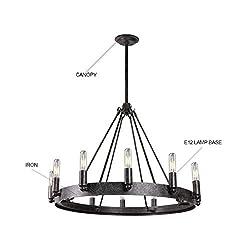 7Pandas 12-Light Indoor Retro Chandeliers E12, Ant