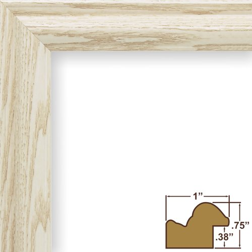 Craig Frames 130ASHWW 8.5 by 11-Inch Picture Frame, Wood Grain Finish, 1-Inch Wide, Whitewash