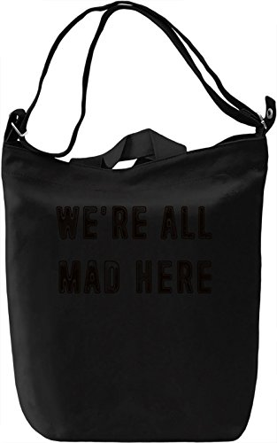 Mad here Borsa Giornaliera Canvas Canvas Day Bag| 100% Premium Cotton Canvas| DTG Printing|