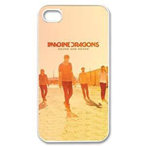 EVA Imagine Dragons iPhone 4,4S Case,Snap-On Protector Hard Cover for iPhone 4,4S