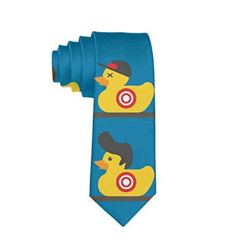 Classic Rubber Yellow Duck Art Men's Silk Necktie Novelty Tie Gift -