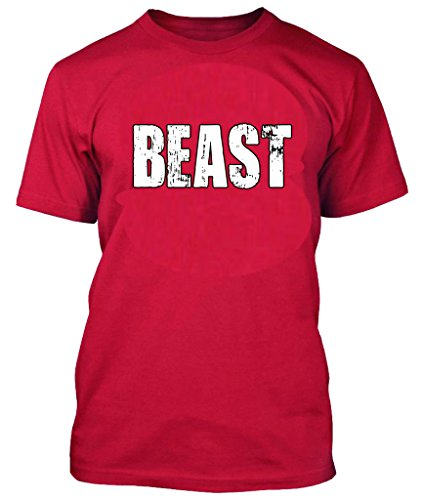 Terminator Outfit (OCPrintShirts Men's Tee BEAST Gym Mode Lifting Athlete T-Shirt Red 3XL)