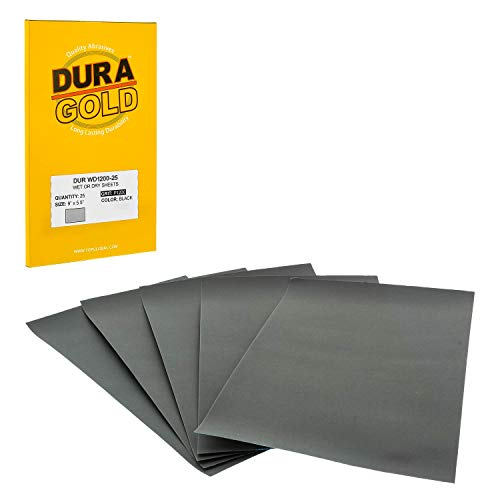 Dura-Gold - Premium - Wet or Dry - 1200 Grit - Professional Cut to 5-1/2