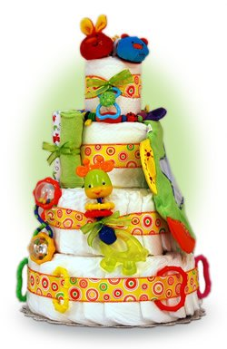 Fun Toys 4 Tier Diaper Cake