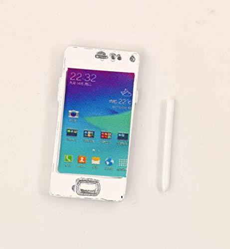 nanguawu 1/6 Scale Dollhouse Miniature Metal Silver Cell Phone with Pen Model Classic Toys