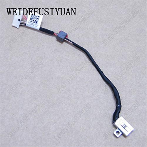 ShineBear 10pcs//lot New Laptop DC Power Jack Socket Connector Wire Harness for DELL Inspiron 15 3558 5455 5000 5555 5575 5755 5758 Cable Length: Other
