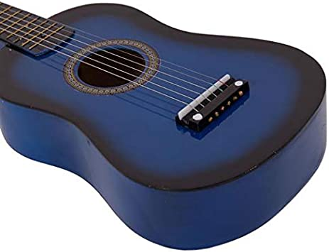 Red Beginner Acoustic Guitar with Pick and Steel String 23 inch Mini 6-String Acoustic Guitar Bundle Kit Stringed Musical Instrument Bundle for Students Children Adult