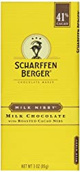 Scharffen Berger Chocolate Bar Milk Nibby, 3-ounces, Cacao (Pack Of 6)