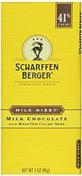 Scharffen Berger Chocolate Bar Milk Nibby, 3-ounces, Cacao (Pack Of 6)
