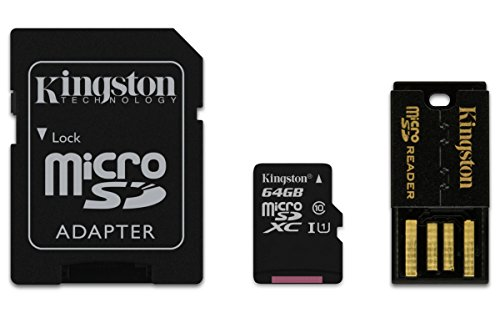 Kingston Digital 64GB Mobility Multi Kit Flash Memory Card with Reader (MBLY10G2/64GB) - Card Mobility