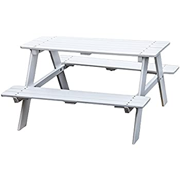 kao mart kids wooden picnic table bench
