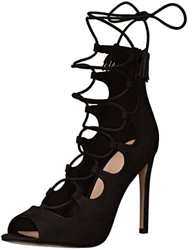 Aldo Women's Sergioa Dress Sandal, Black, 6 B US
