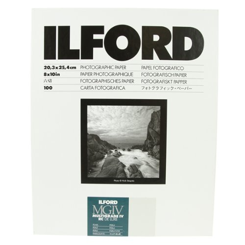 Ilford Multigrade IV RC Deluxe MGD.44M Black and White Variable Contrast Paper (8 x 10 Inches, Pearl, 100 Sheets) (1771318)