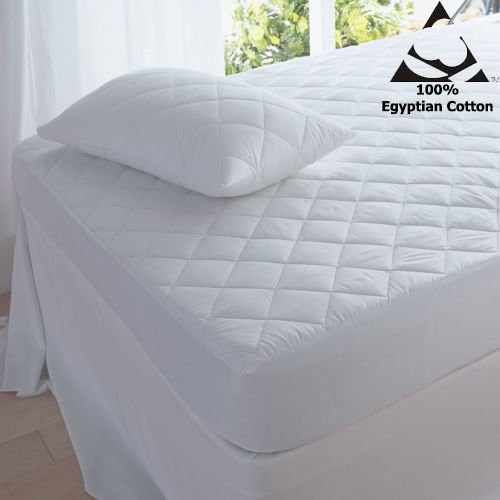 T& A Traders 100% Egyptian Cotton 200 Thread Count 16 Extra Deep Quilted Mattress Protectors (4FT (Small Double))