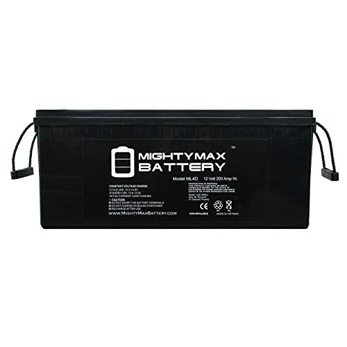Mighty Max Battery 12V 200Ah 4D SLA AGM Battery Replacement for Solar Systems Brand Product