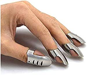 Kitchen Finger Hand tector Guard Stainless Steel Chop Shield Slice H1H9