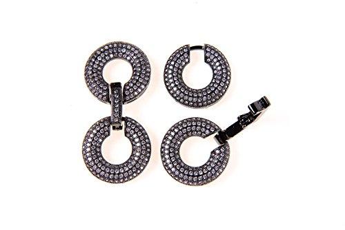 (GOODBEAD 1pc Cubic Zirconia Micro Pave Round Multi Strand Buckle Clasp | DIY Necklace, Choker, Bracelet |)