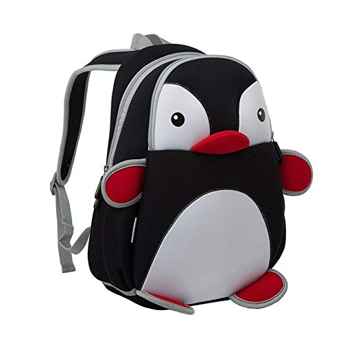 e91172b4b2 BINGONE NOHOO Children Backpack 3D Cartoon Zoo Black Penguin