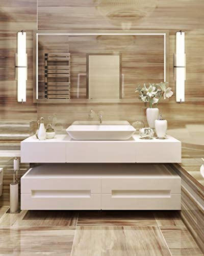Cloudy Bay LED Bathroom Vanity Light,24 inch 4000K Cool White Bath Bar Fixture,20W 1000lm Dimmable,Brushed Nickel