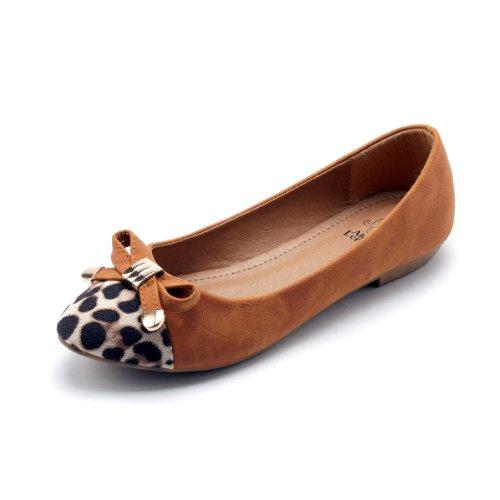Alexis Leroy New Arrival Women Fashion Sexy Leopard Toe Knots Ballet Flats Shoes (40 M EU/9-9.5 B(M) US, - Sexy Leopard New