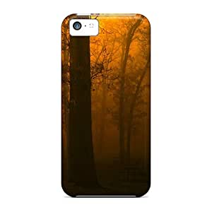 Iphone 5c Hard Back With Bumper Silicone Gel Tpu Case Cover Golden Night