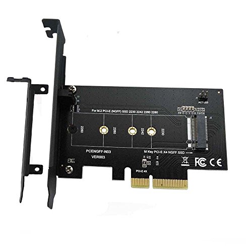 XinYS M.2 NGFF PCIe SSD to PCI Express 3.0 x4 Drvie Host Adapter Card Slot Support M.2 PCIe(NVMe,AHCI )2280, 2260, 2242, 2230 (Armor Pro Predator)