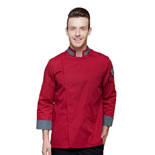 sh Unisex Chef Uniforms Long Sleeve Coat Jacket ()