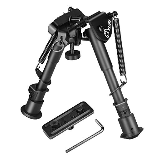 CVLIFE 6-9 Bipod with Adapter for Hunting and Shooting