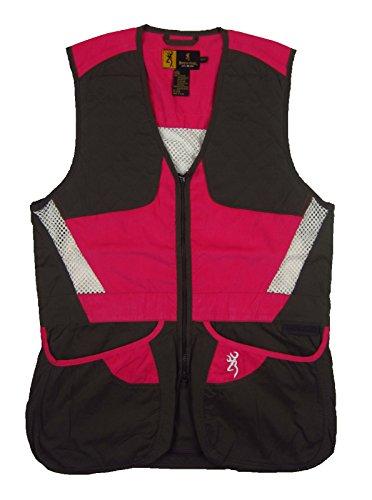 Browning Summit Shooting Vest X-Large Smoke/Hot Pink