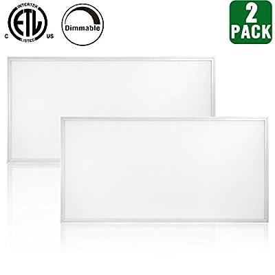 Hykolity 2x4Ft LED Troffer Flat Panel Lighting