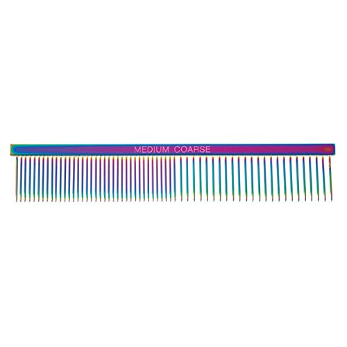 Rainbow Color Greyhound Combs for Dog Grooming Tools 3 Size Sets Available Too(Rainbow Face & Finishing)