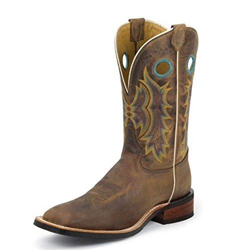 Tony Lama Mens Creedance Marron 11 Hauteur (7973)   Pied Bronzage Siècle   Bottes Western De Pullon   Botte En Cuir Marron Cowboy   Fabriqué Aux États-unis