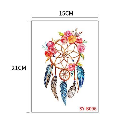 Etiquetas engomadas del tatuaje del brazo de la flor personalidad ...