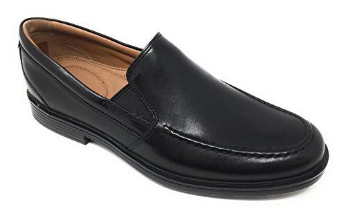 CLARKS Un Aldric Slip Mens Loafers Black Leather 10.5
