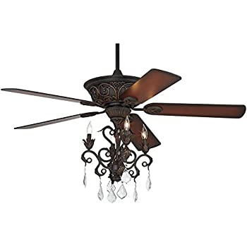 Casa Contessa Dark Bronze Chandelier Ceiling Fan