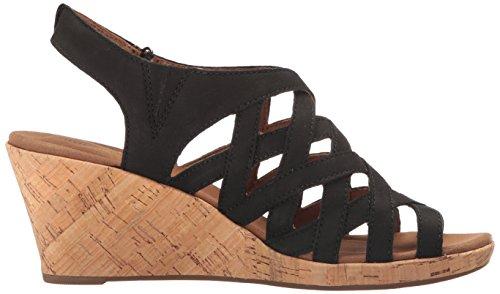 Black Womens Sandal Wedge Wedge Nubuck Rockport qg6SxHZ6wC
