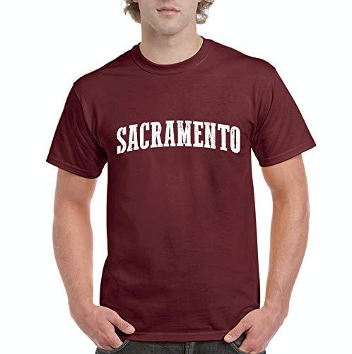 Mom`s Favorite Sacramento City California Traveler Gift Men's Short Sleeve T-Shirt (3XLMAR) Maroon]()