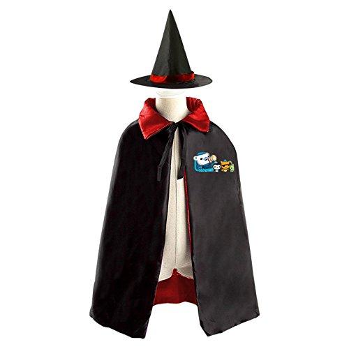 Octonauts Dream magic cloak Halloween for children, indoors and outdoors Red (Octonauts Halloween)